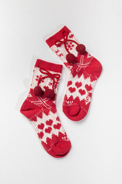 Cosy Kadın Yılbaşı Çorabı - Kırmızı