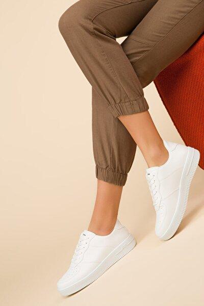 Beyaz Kadın Sneaker TS1016