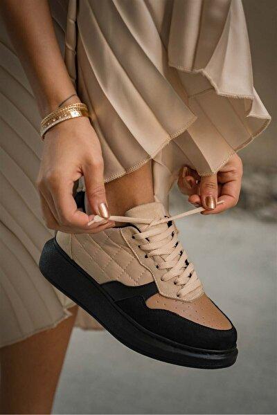 Kadın Valeri Taba Bej Spor Ayakkabı