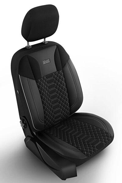 Special Oto Koltuk Kılıfı - Modena Serisi - Siyah Renk Füme Nakış