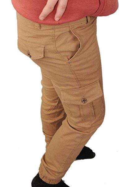 Çocuk Pantolon Erkek Kargo Cepli Paça Lastikli Beli Ayarlanabilir Lastik Komando