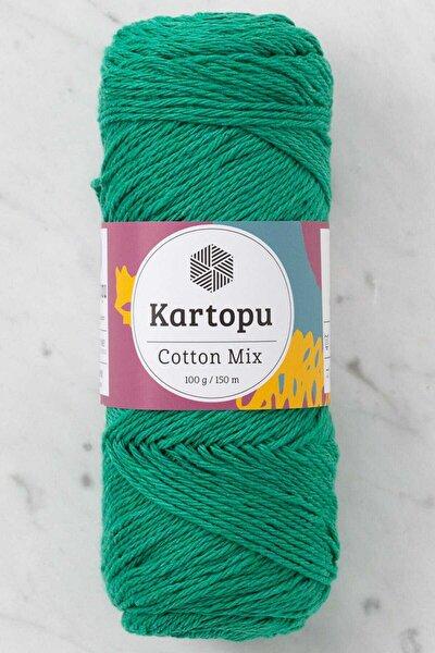Cotton Mix Koyu Yeşil El Örgü İpi - 2170S