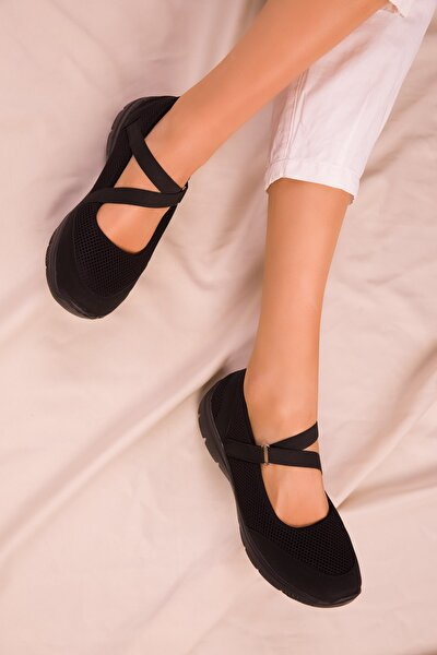 Siyah-Siyah Kadın Sneaker 14824