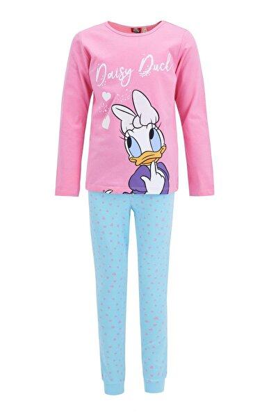 Kız Çocuk Daisy Duck Lisanslı Pijama Takımı