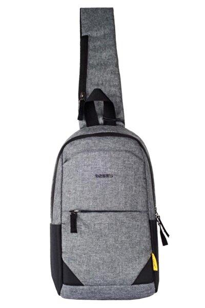 7006 Çapraz Göğüs Ve Omuz Çantası Body Bag Gri