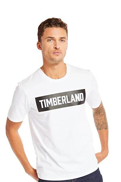 Timbeland Ss Mink Brook 3d Embossed Brand Car Erkek T-shirt Beyaz