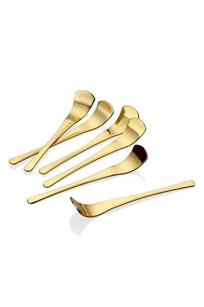 Destino Parlak Gold (Altın) Çay Kaşığı 6 Lı