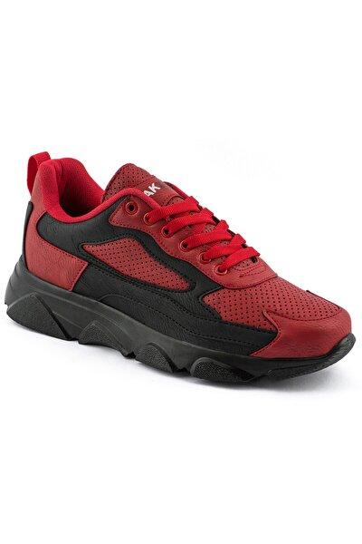 029 Kırmızı Siyah Siyah Erkek Spor Ayakkabı