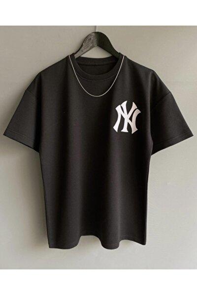 Unisex Oversize Nakışlı T-shirt