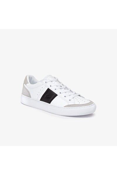 Courtline Erkek Logo Detaylı Beyaz Sneaker