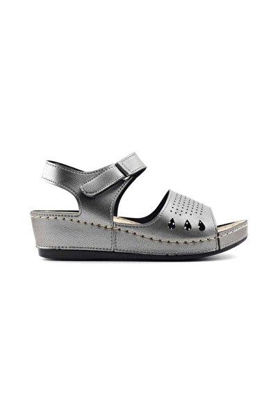 98805 Anatomik Kadın Sandalet-platin