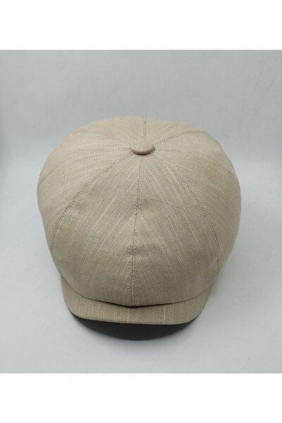 Peaky Blınders Yazlık Bej Kasket Şapka