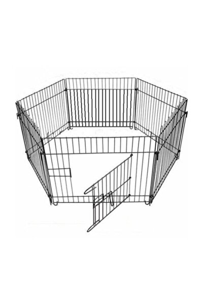 Metal Köpek Oyun Alanı Çit Altı Parça 63x63 cm