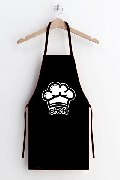 Chefs Desen Leke Tutmaz Mutfak Önlüğü