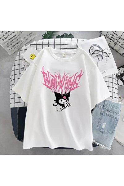 Beyaz Kuromi Anime Tişört