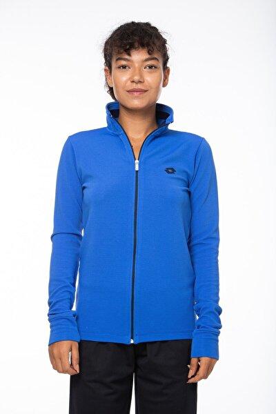 Sweatshirt Kadın Saks Mavi-lacivert-ottoman Sweat Fz Pl W-r9653