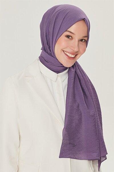 Kadın Mor İpek Şal