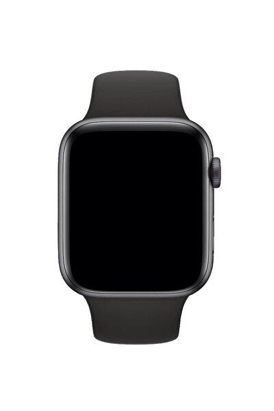 Apple Watch Uyumlu Siyah Silikon Spor Kordon