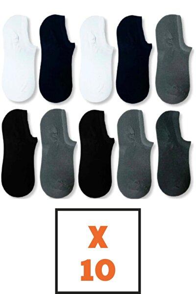 10 Çift Bambu Dikişsiz Görünmez Sneakers Çorap