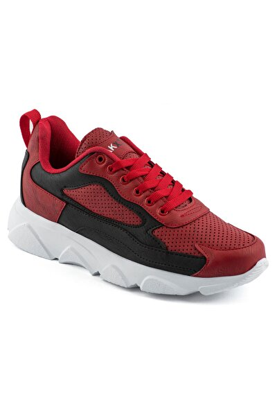029 Kırmızı Siyah Beyaz Erkek Spor Ayakkabı