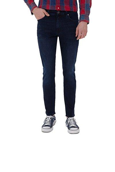 Erkek Lacivert Justın Adeır Wash Kot Pantolon