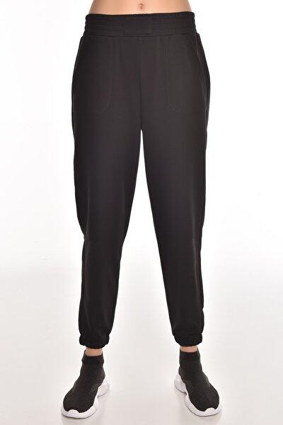 Siyah Kadın Jogger Eşofman Altı Gw-8999