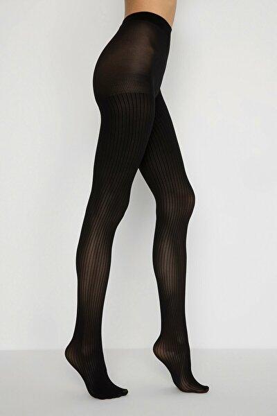 Siyah Dorıs Külotlu Çorap