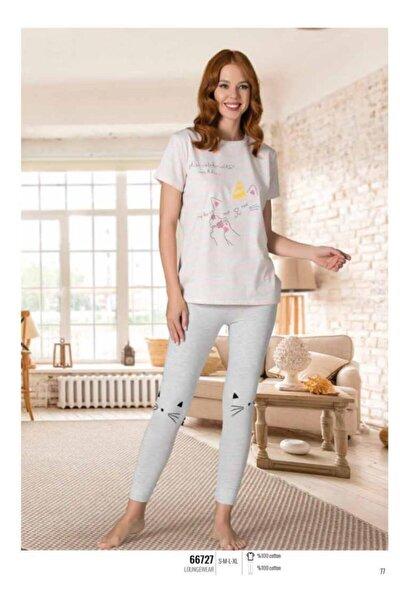 Kedili Kadın Pijama Takımı 66727