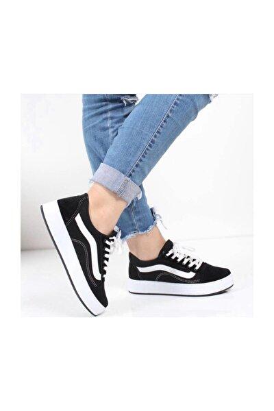 Kadın Siyah Beyaz Vans Ayakkabı