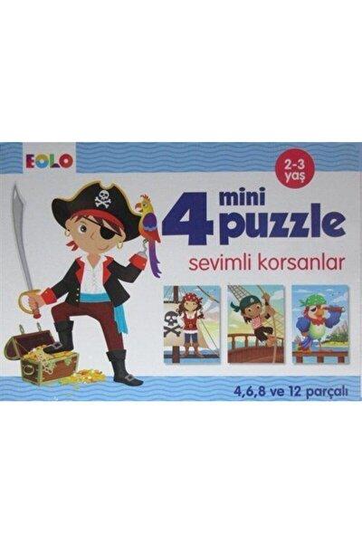 4 Mini Puzzle Sevimli Korsanlar (2-3 Yaş)