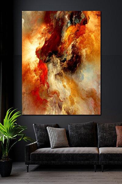 70x100 Su Ve Ateş Kanvas Duvar Tablo