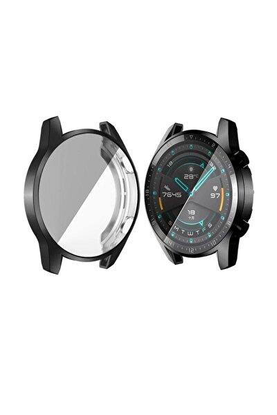 Huawei Watch Gt 2 46mm 360 Koruma Ultra Ince Silikon Kılıf - Siyah