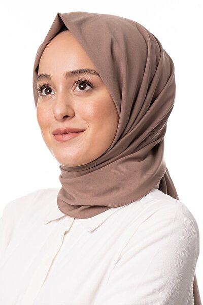 Kadın Karamel Trend Medine Ipeği Şal