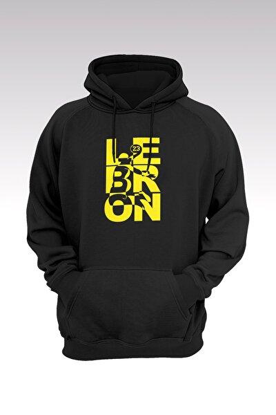 Lebron James 124 Siyah Kapşonlu Sweatshirt - Hoodie