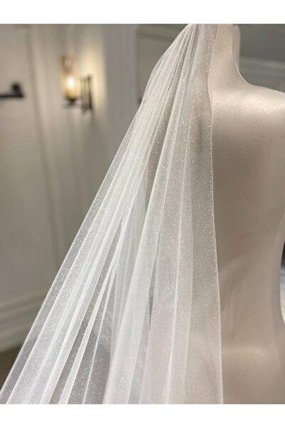 Uzun Rahibe Simli Kırık Beyaz Hayal Tül Duvak 250 Cm