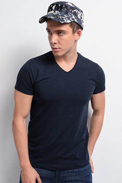 Rodi Rd19ye279973 Lacivert Erkek Lycra Süprem V Yaka T-shirt