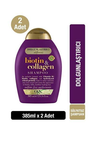 Dolgunlaştırıcı Biotin & Kolajen Sülfatsız Şampuan 385 ml x2