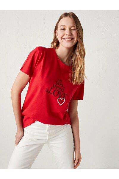 Kadın Kırmızı Tişört