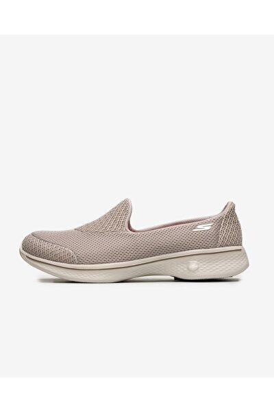 GO WALK 4 Kadın Bej Yürüyüş Ayakkabısı