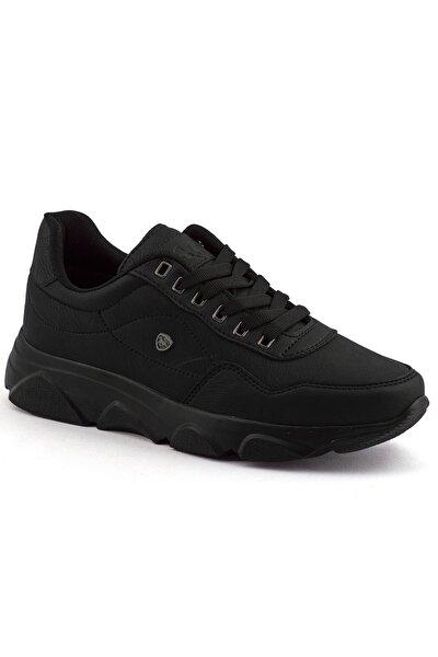 Erkek Siyah Renk Siyah Taban Spor Ayakkabı 019