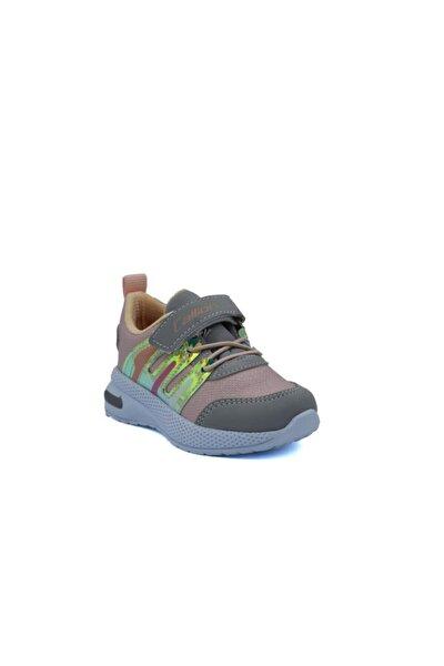 Lisanslı Markalar Kız Çocuk Işıklı Somon Spor Ayakkabı