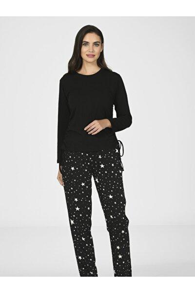 Yan Büzgülü Kadın Pijama Takımı 67087