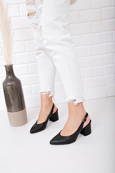 Siyah Topuklu Ayakkabı Us28830