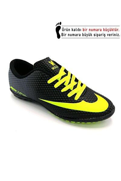 Siyah Futbol Halısaha Ayakkabısı