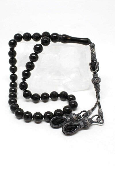 Siyah Oltu Taşı Tesbih K0230