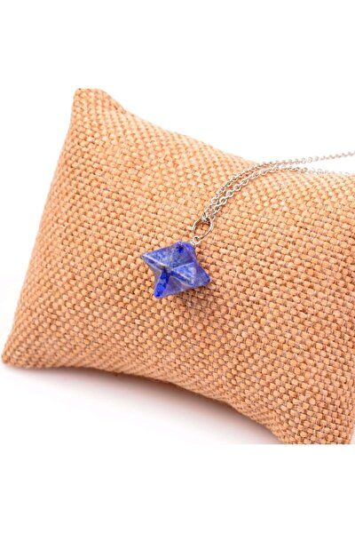 Lapis Lazuli Taşı Merkaba Yıldızı Kolye