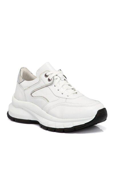 Beyaz Kadın Deri Ayakkabı 65304a26