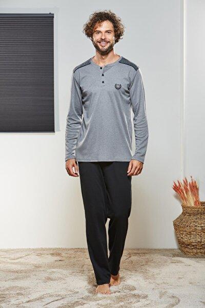 Erkek Düğmeli Pijama Takımı 21302
