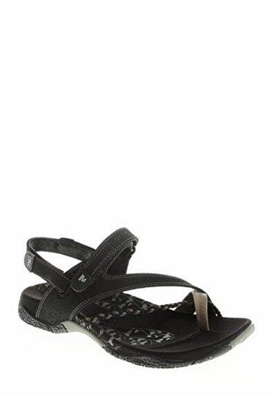 J36420 Siena Black Kadın Sandalet