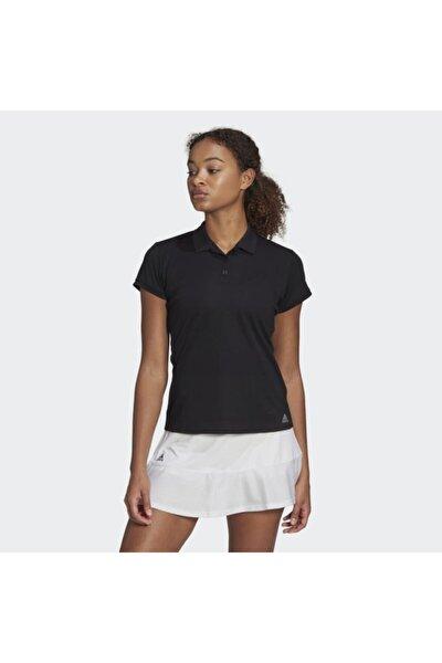 Fq3734 Club Polo Kadın Siyah Tişört